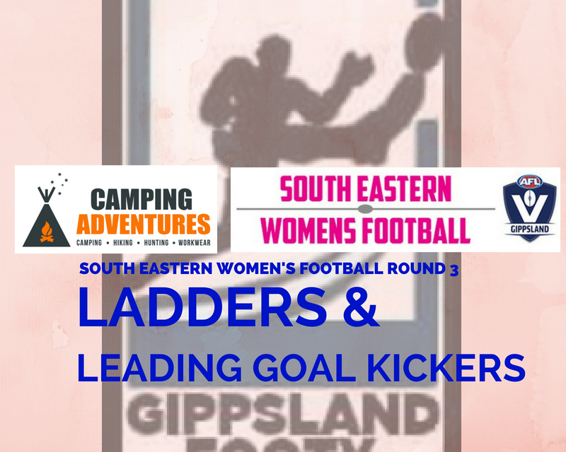 South Eastern Women's Football ladders and leading goal kickers after Round 3