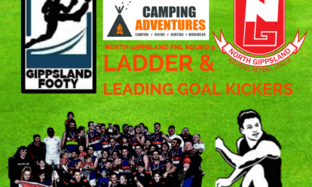North Gippsland FNL ladder and leading goal kickers after Round 9