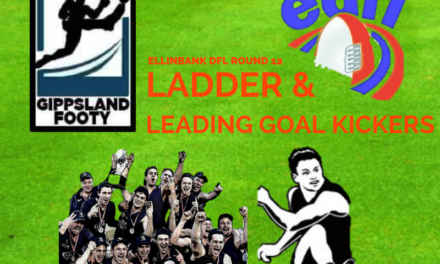 Ellinbank DFL ladder and leading goal kickers after Round 12