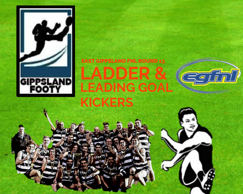 East Gippsland FNL ladder and leading goal kickers after Round 13