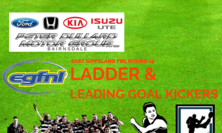 East Gippsland FNL ladder and leading goal kickers after Round 15