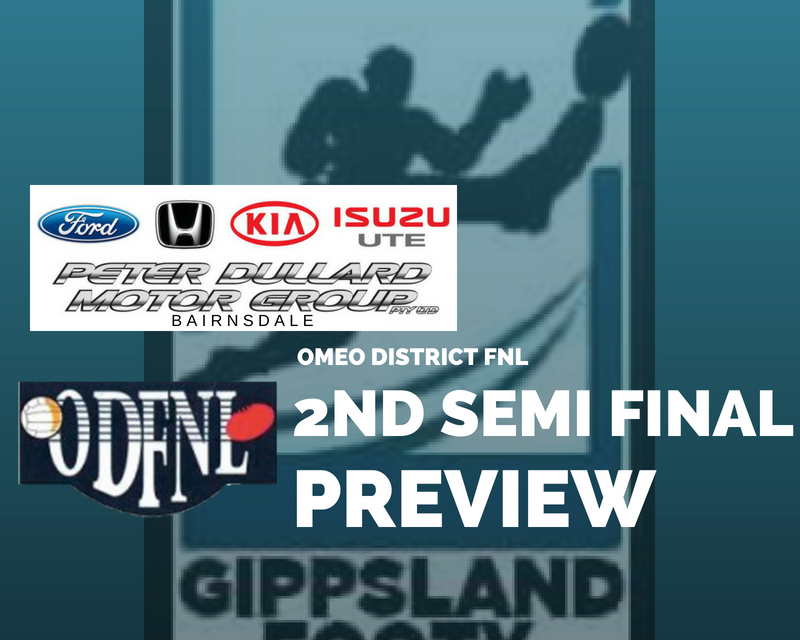 Omeo District FNL 2nd Semi Final preview
