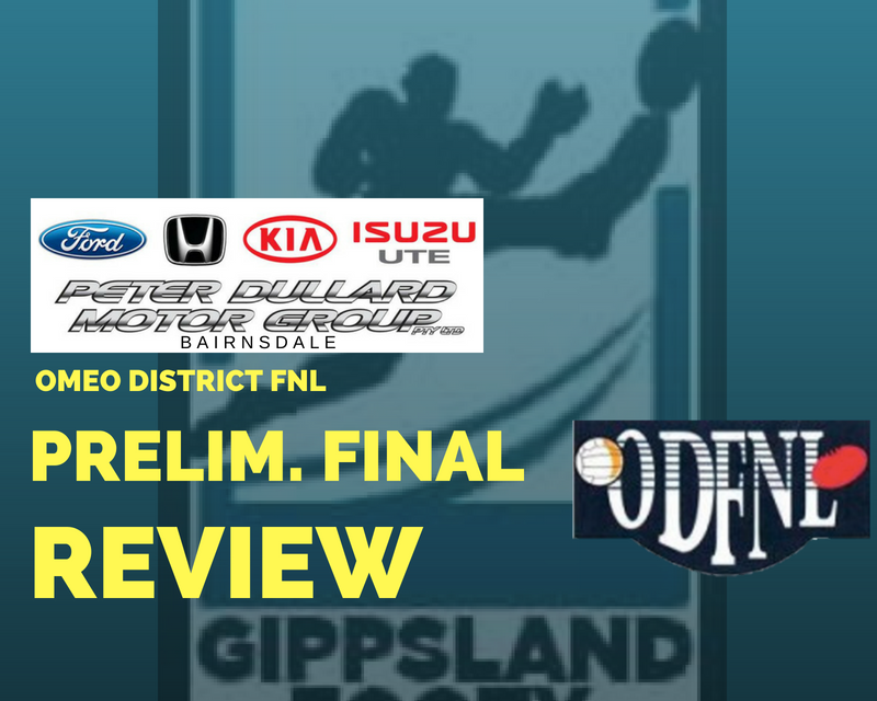 Omeo District FNL Preliminary Final review