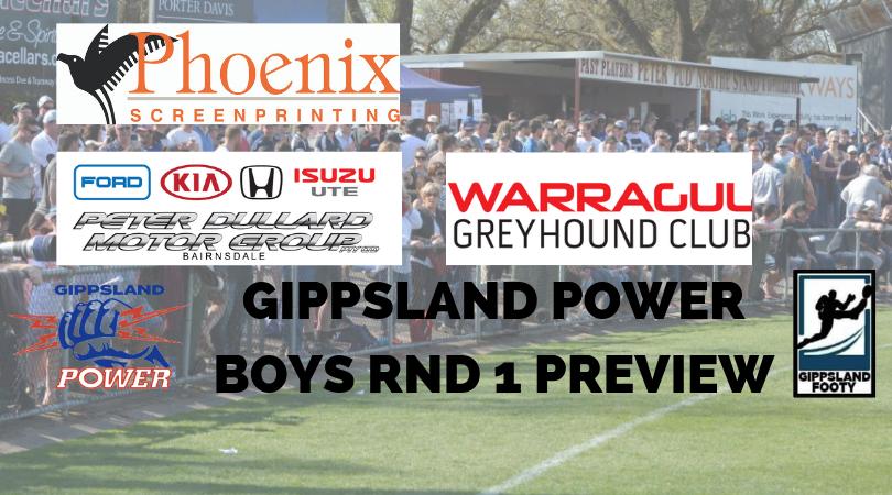 Gippsland Power Boys Round 1 preview