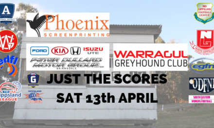 Just the scores Saturday April 13th