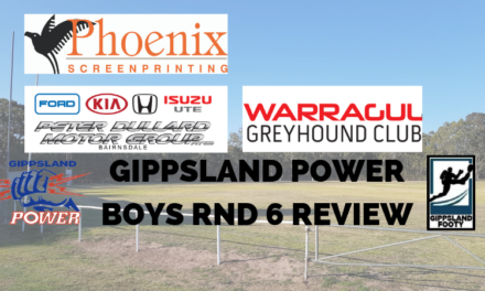 Gippsland Power boys Round 6 review