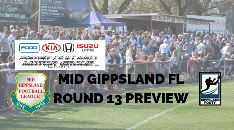 Mid Gippsland FL Round 13 preview