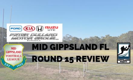 Mid Gippsland FL Round 15 review