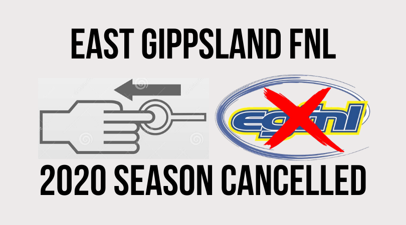 East Gippsland FNL pull the pin on 2020