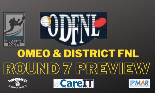 Omeo & District FNL Round 7 preview