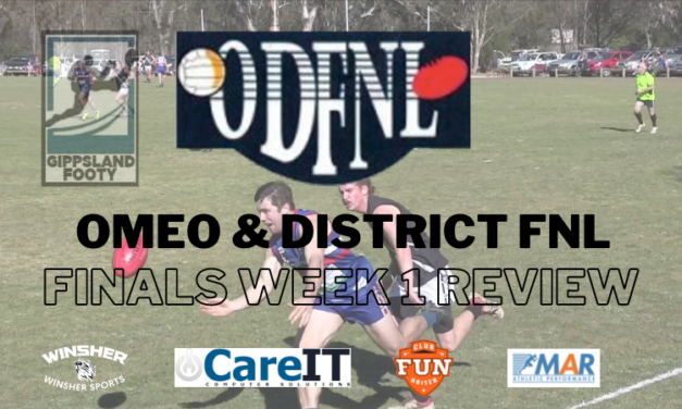 Omeo & District FNL Finals Week 1 review